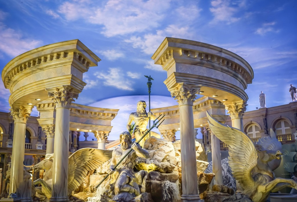 Though a touch gaudy, Caesars Palace is truly a fascinating sight to behold. Plus, it has some of the best shopping in Vegas.